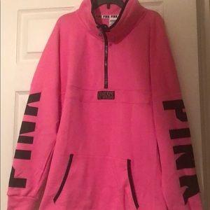 Victoria's Secrets Pink Half ZIP Sweatshirt Size L
